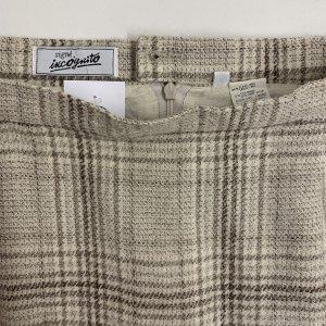 חצאית עיפרון משבצות שמנת - וינטג׳ 4