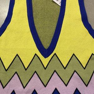 אפודה סריג צהוב כחול ורוד - אמה 4
