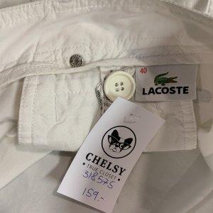 """מכנסיים דגמ""""ח לבן, שני כיסים - LACOSTE 4"""