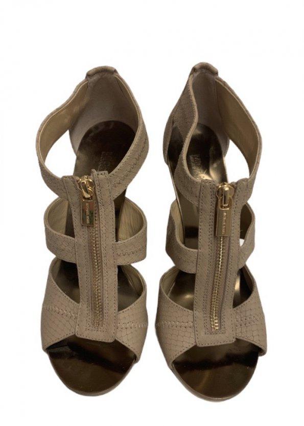 נעלי עקב בצבע ורוד עם עקב בצבע זהב - Michael Kors 1