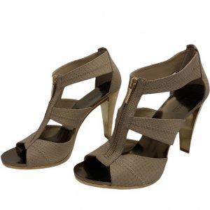 נעלי עקב בצבע ורוד עם עקב בצבע זהב - Michael Kors 2