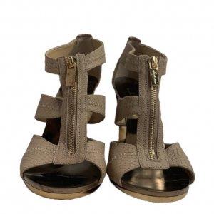 נעלי עקב בצבע ורוד עם עקב בצבע זהב - Michael Kors 5