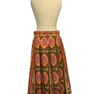 חצאית וינטג׳ אתנית כתום ורוד חום - אתא 2