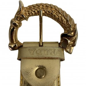חגורה זהב prada 3