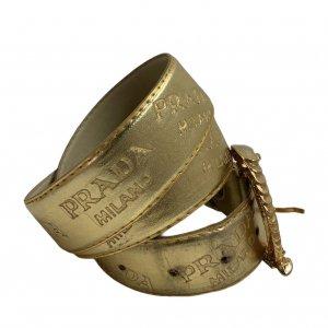 חגורה זהב prada 6