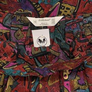 מכנסי חצאית וינטג׳ בהדפס צבעוני 3