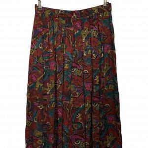 מכנסי חצאית וינטג׳ בהדפס צבעוני 2