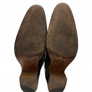 מגפיים בוקרים, עור בצבע חום כהה עם עיטורים - FREE LANCE PARIS 7