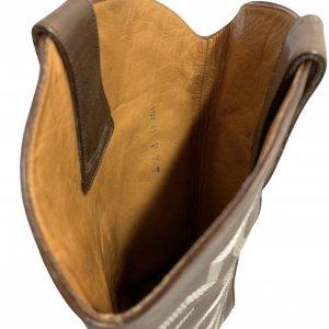 מגפיים בוקרים, עור בצבע חום כהה עם עיטורים - FREE LANCE PARIS 6