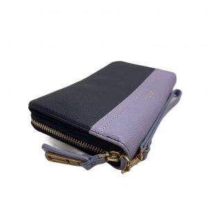 ארנק עור כחול כהה וסגול - ISAAC MIZRAHI 5