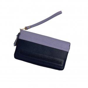 ארנק עור כחול כהה וסגול - ISAAC MIZRAHI 4