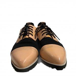 נעלי מוקסין לק אפרסק ובד שחור - UNITED NUDE 6