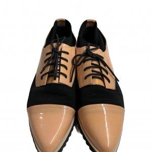 נעלי מוקסין לק אפרסק ובד שחור - UNITED NUDE 5