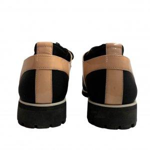 נעלי מוקסין לק אפרסק ובד שחור - UNITED NUDE 4