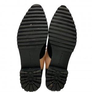 נעלי מוקסין לק אפרסק ובד שחור - UNITED NUDE 7