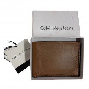 ארנק גברים עור חום בהיר - CALVIN KLEIN 4