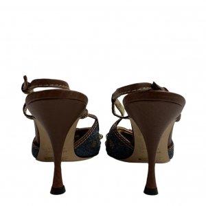 נעלי עקב מבד ג׳ינס עם אבני סברובסקי - Dolce & Gabbana 8