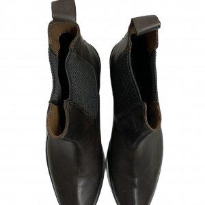 מגפיים נמוכים, עור חום כהה עם גומי בצדדים - SALAMANDER 4