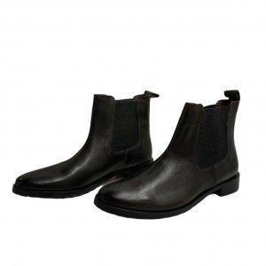 מגפיים נמוכים, עור חום כהה עם גומי בצדדים - SALAMANDER 2