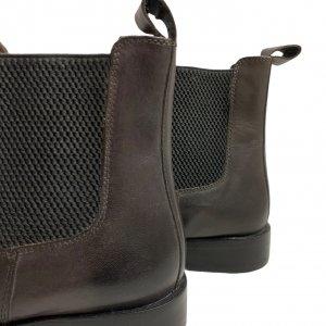 מגפיים נמוכים, עור חום כהה עם גומי בצדדים - SALAMANDER 7