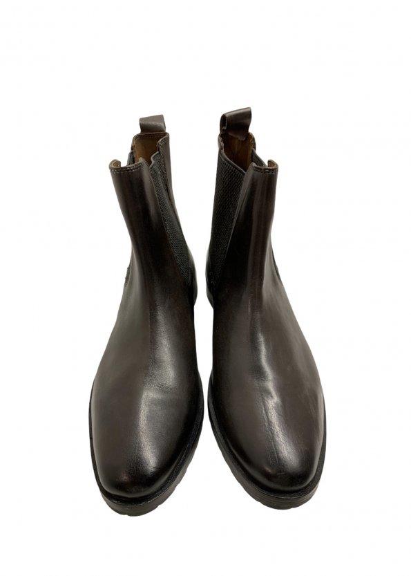 מגפיים נמוכים, עור חום כהה עם גומי בצדדים - SALAMANDER 1