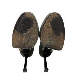 נעלי עקב עור נחש ירוק זית אפור - Yves Saint Laurent 5