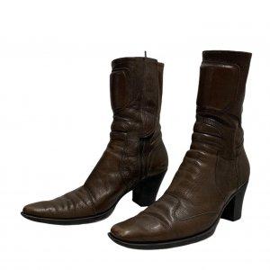 מגפיים עור חום - MIU MIU 2