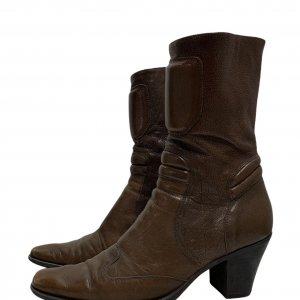 מגפיים עור חום - MIU MIU 5