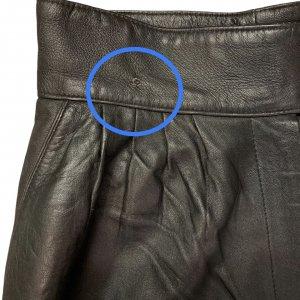 מכנס עור שחור גבוה - וינטג׳ 4
