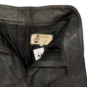 מכנס עור שחור גבוה - וינטג׳ 3
