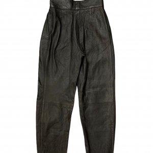 מכנס עור שחור גבוה - וינטג׳ 2