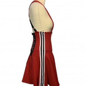 שמלת שלייקעס ומחוך בצבע אדום עם פסים שחור לבן בצד - ADIDAS 4
