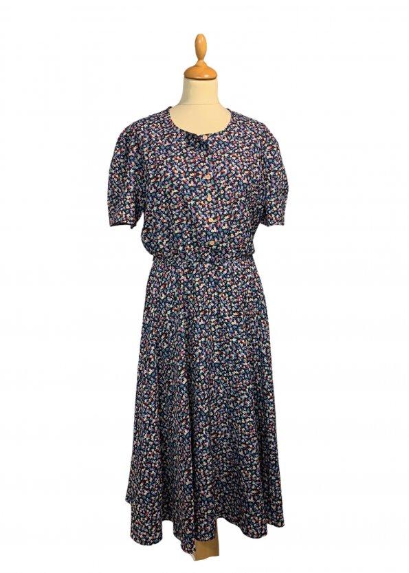 שמלת וינטג' שרוול קצר, מקסי פרחונית - ST MICHAEL 1