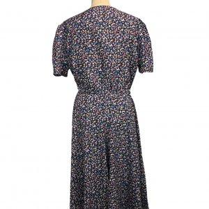 שמלת וינטג' שרוול קצר, מקסי פרחונית - ST MICHAEL 2