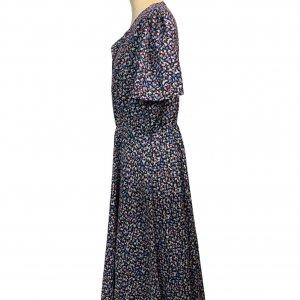 שמלת וינטג' שרוול קצר, מקסי פרחונית - ST MICHAEL 3