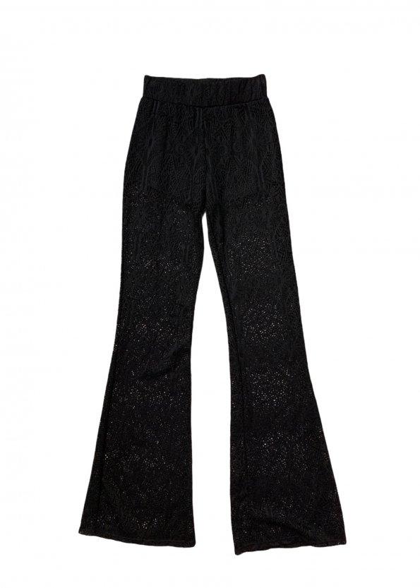 מכנסיי תחרה שחורות עם תחתון קצר מתחת - KILLSTAR 1
