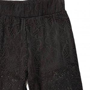 מכנסיי תחרה שחורות עם תחתון קצר מתחת - KILLSTAR 3