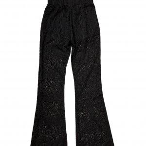 מכנסיי תחרה שחורות עם תחתון קצר מתחת - KILLSTAR 2