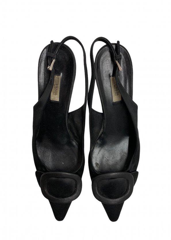נעלי עקב שחורות - PRADA 1