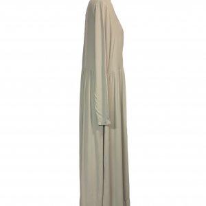 שמלה שרוול ארוך ויסקוזה צבע אפור אבן - American Vintage 3