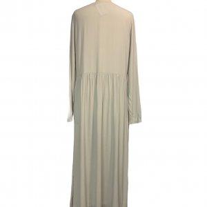 שמלה שרוול ארוך ויסקוזה צבע אפור אבן - American Vintage 2