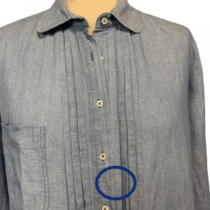 חולצה מכופתרת שרוול ארוך ג׳ינס בהיר - Sandro 3