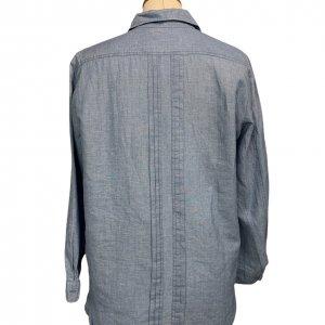 חולצה מכופתרת שרוול ארוך ג׳ינס בהיר - Sandro 2