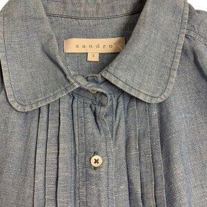 חולצה מכופתרת שרוול ארוך ג׳ינס בהיר - Sandro 4