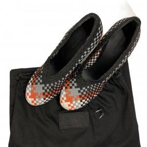 נעלי עקב שתי וערב בצבע שחור אפור כתום לבן - ALEXANDER WANG 6
