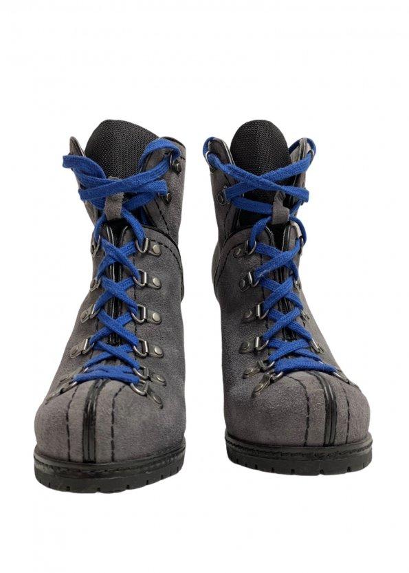 מגפיים על עקב עור זאמש אפור, סרוך כחול - REPLAY 1