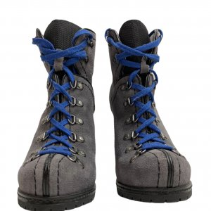 מגפיים על עקב עור זאמש אפור, סרוך כחול - REPLAY 7