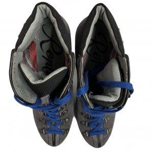 מגפיים על עקב עור זאמש אפור, סרוך כחול - REPLAY 4