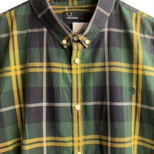 חולצה מכופתרת משבצות ירוק צהוב - FRED PERRY 3