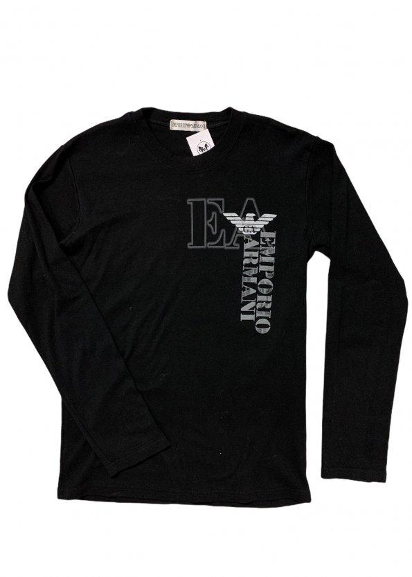 חולצת טריקו שחורה, שרוול ארוך - ARMANI 1